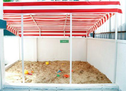 Sand pit for children
